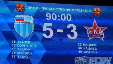 Голы матча «Ротор» - «Ска Хабаровск». 29 сентября 2019