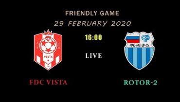 Сегодня «Ротор-2» проведет товарищеский матч на сборах в Абрау-Дюрсо