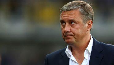 После тренировки на вопросы журналистов ответил тренер Александр Хацкевич