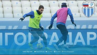 Тренировка «Ротора» перед матчем с «Уфой»